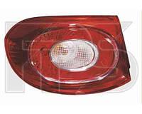 Фонарь задний для Volkswagen Tiguan 07-11 левый, внешний (DEPO)