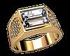 Мужской золотой перстень Небесный блеск