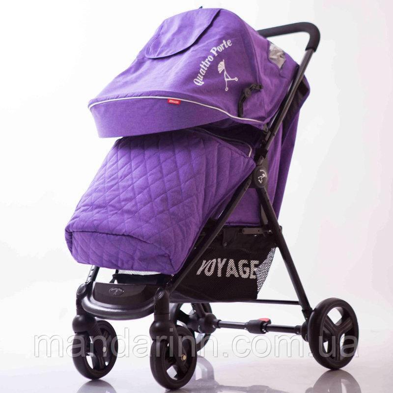 Детская коляска Quattro Porte QP-234 Purple Фиолетовая