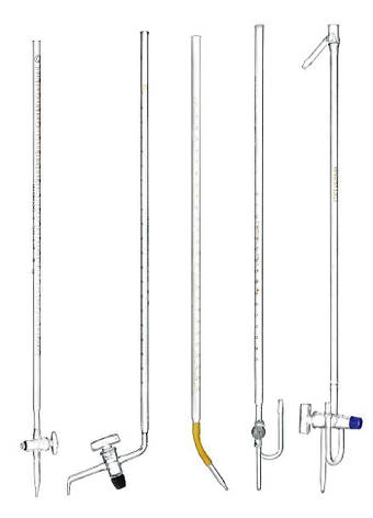 Бюретка без встановленого часу очікування з одноходовым краном 1 мл, скло, фото 2