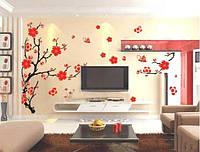 Виниловая наклейка дерево сакура цветущая