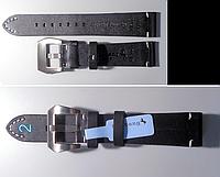 Ремешок для часов из цельного куска натуральной кожи телёнка 20 мм, стальная бакля