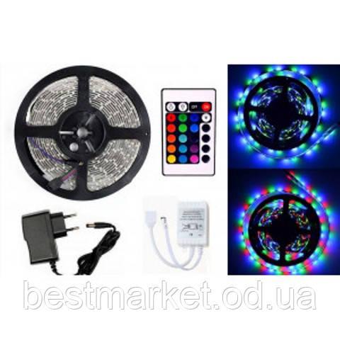 Комплект Светодиодной Ленты 3528 RGB Цветной