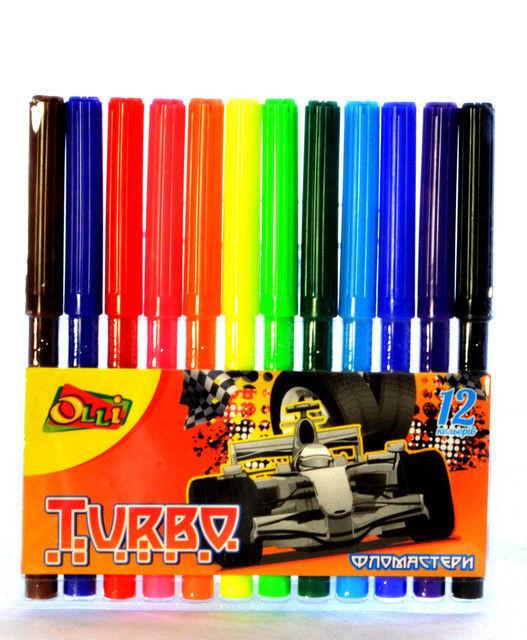"""Фломастери Olli """"Turbo"""" 12 кольорів, Ol-917-12T"""
