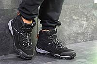 Ботинки мужские Merrell замшевые осень качественные удобные теплые (черные), ТОП-реплика , фото 1
