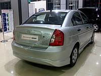 Накладка на задний бампер Hyundai Accent (06-11)