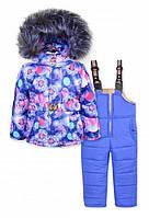 Зимний комбинезон-тройка для девочки размер 92-110 , цвета в ассортименте, фото 1