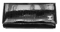 Кошелек женский Chanel (Шанель) 8001-21 натуральная кожа черный