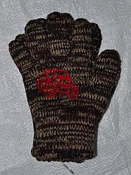 Перчатки для мальчика Kafar коричневый меланж (MargotBis, Польша)