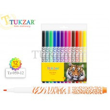 Фломастери TUKZAR 12 кольорів TZ 959-12