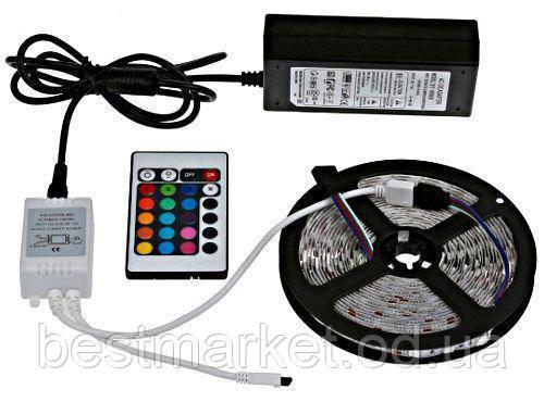 Комплект Светодиодной Ленты 5050 RGB Цветной