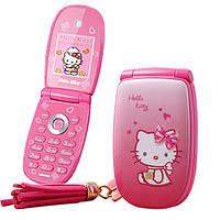 Телефон-раскладушка Hello Kitty W88 mini   1 сим,2 дюйма,2 Мп,Брелок в подарок!, фото 1