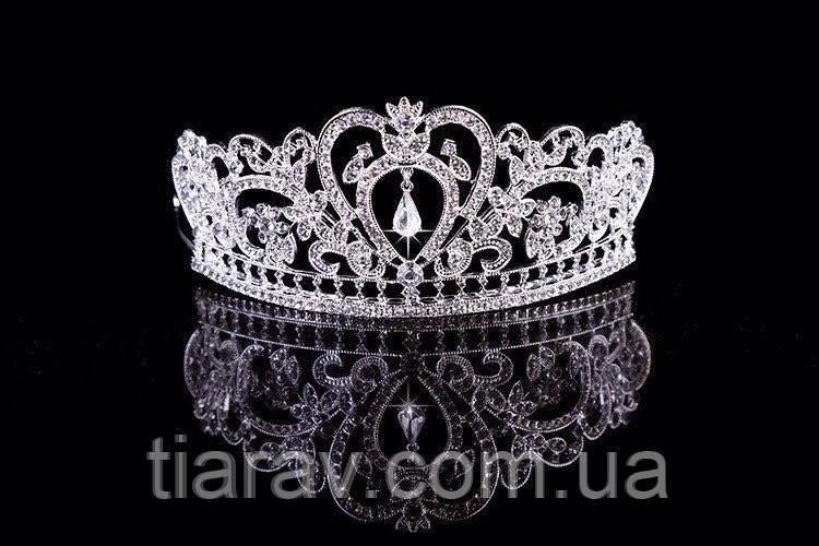 Диадема свадебная высокая Тиара корона Фиона Тиара Виктория свадебная Корона украшения короны тиары диадемы