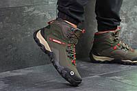 Ботинки мужские Merrell осенние качественные удобные теплые в оливковом цвете, ТОП-реплика , фото 1