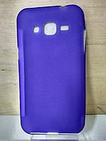 Силиконовый фиолетовый чехол Samsung J2 (J200)
