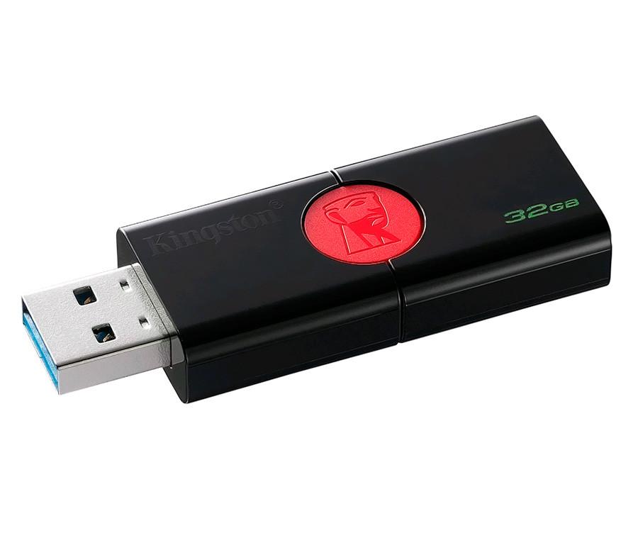 Флешка USB 3.1 32 Gb Kingston DataTraveler 106 Black/Red, DT106/32 Gb