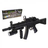 Автомат штурмовой MP5 лазер прицел, пульки, фонарик SWAT, фото 1