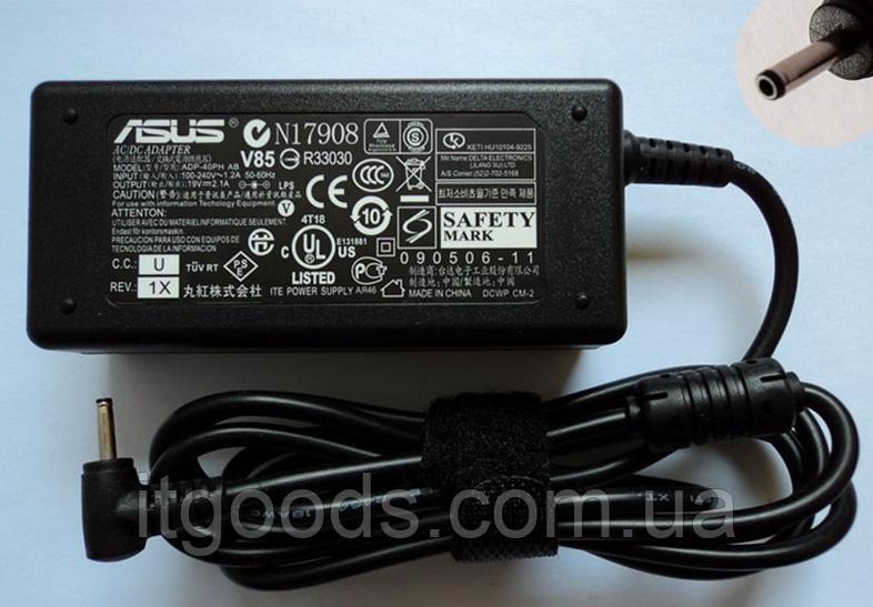 Блок питания Asus 19V 2.1A 40W 2.5mm x 0.7mm Eee PC 1001HA 1001P 1001P