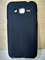 Силиконовый черный чехол Samsung J2 (J200)