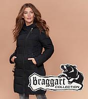 Braggart Simply   Длинная зимняя куртка женская черная