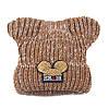 Детская зимняя шапочка для девочки Микки с ушками коричневая опт