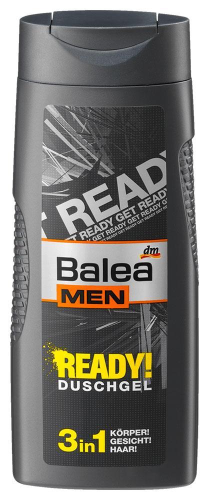 Гель для душа Balea Men Ready 3в1 300мл