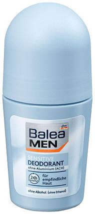 Роликовый дезодорант для чувствительной кожи Balea Men 50мл 48 часов защиты, фото 2