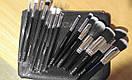 Кисти ZOEVA 15 штук серый ворс (черные), фото 2