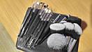 Кисти ZOEVA 15 штук серый ворс (черные), фото 4