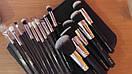 Кисти ZOEVA 15 штук серый ворс (черные), фото 5