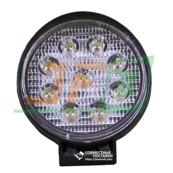 27W / 60 (9 x 3W / широкий луч, круглый корпус) 1890 LM LED фара рабочая 1075 (GY-009Z03A)