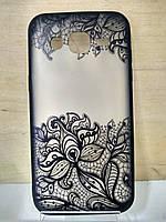 Силиконовый чехол с кружевным рисунком Samsung J2 (J200)