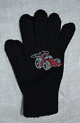 Перчатки для мальчика Kafar черные (MargotBis, Польша)