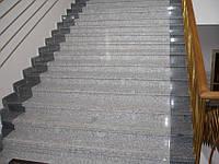 Монтаж лестниц из гранита