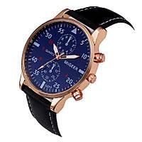"""Мужские наручные часы """"Migeer"""" черные с синим циферблатом"""