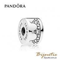 Pandora шарм-клипса СИЯЮЩАЯ КОРОНА #797634CZ серебро 925 Пандора оригинал