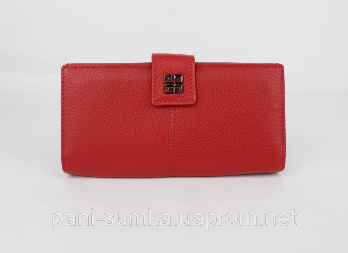 Кошелек кожаный на кнопке Givenchy 6287 красный на кнопке, расцветки