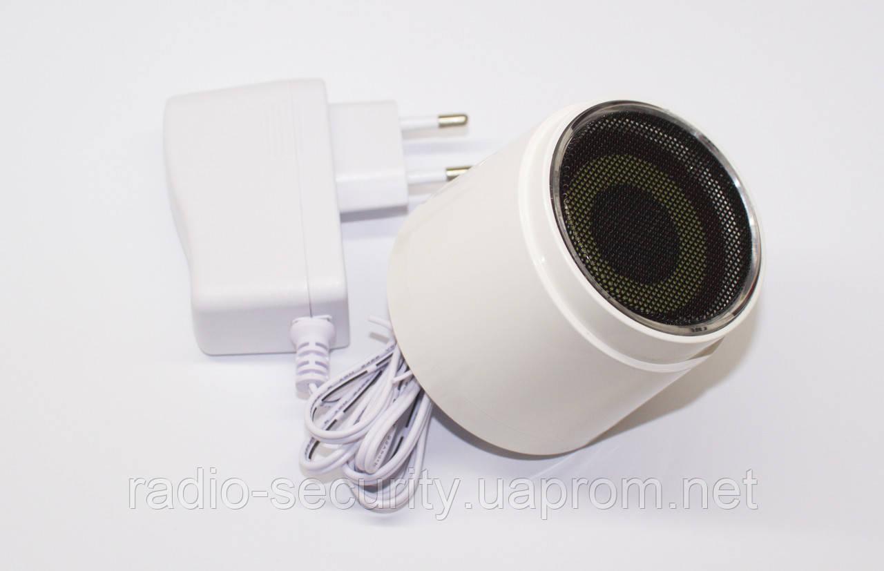 Беспроводный внутренний свето-шумовой оповещатель PoliceCam ІSR-01 сирена 868 MHz сирена