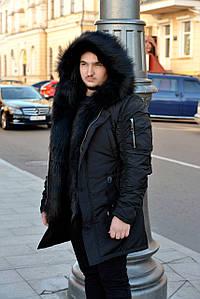 Парка Аляска мех куртка пуховик мужская зимняя Размер 44-46