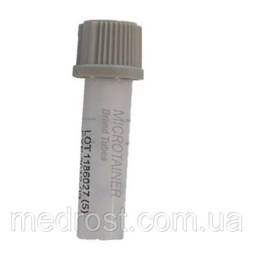 Пробирка BD Microtainer® с серой крышкой BD Microgard™, с ЭДТА и фторидом натрия
