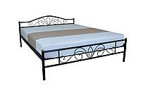 Кровать Лара Люкс двуспальная 200х140, бордовая