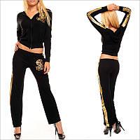 Чорний жіночий спортивний костюм