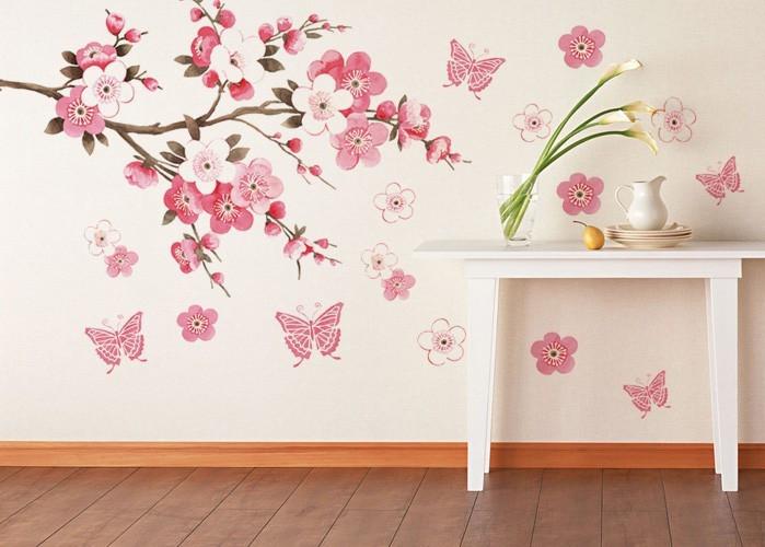 Виниловая наклейка цветущая сакура