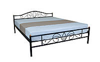 Кровать Лара Люкс двуспальная 190х180, бордовая