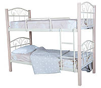 Кровать Лара Люкс Вуд двухъярусная  190х90, розовая