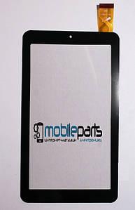 """Оригинальный сенсор (Тачскрин) для планшета 7"""" Аqprox Cheesecake APPTB703 30pin (184х104mm) (Черный)"""