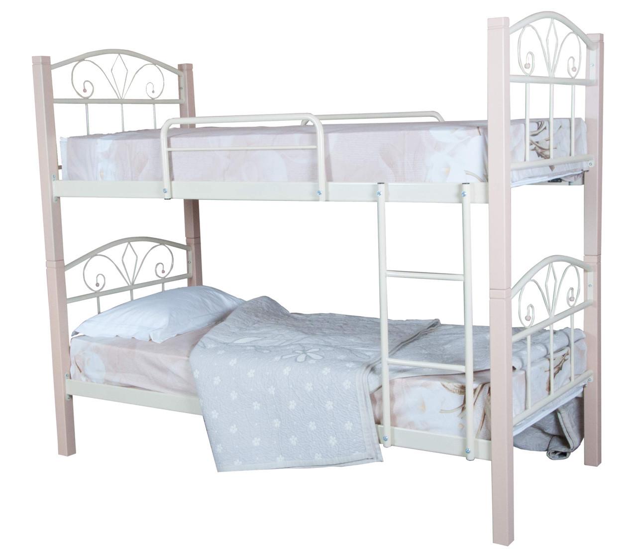 Кровать Лара Люкс Вуд двухъярусная  200х90, бордовая