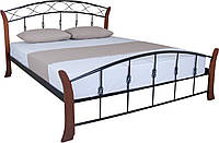 Кровать Летиция Вуд двуспальная 190х120, бежевая