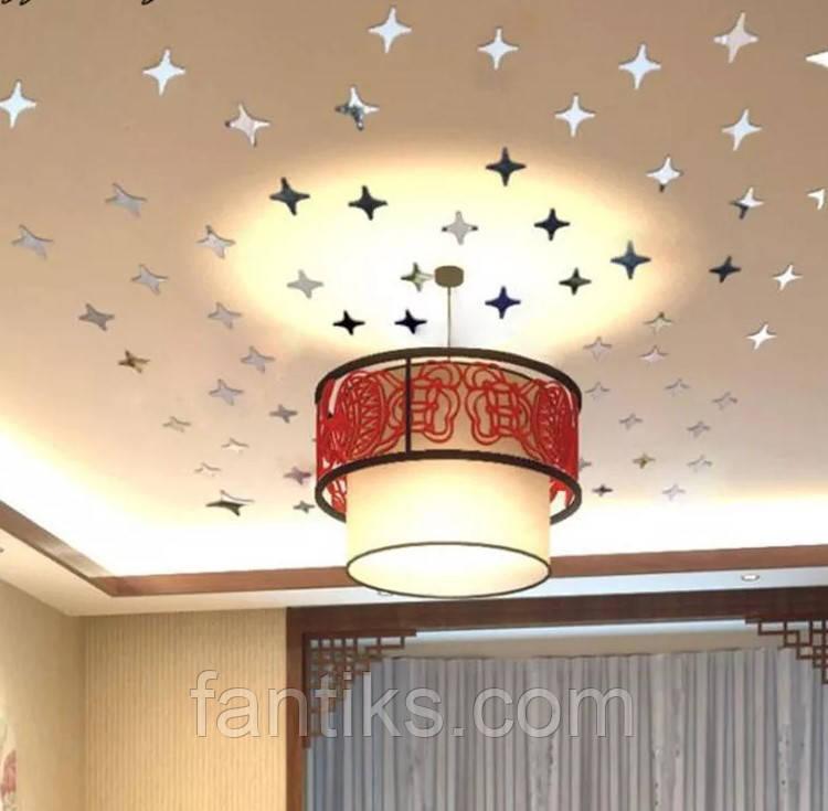 Дзеркальні зірки - набір наклейок 25 шт