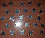 Дзеркальні зірки - набір наклейок 25 шт, фото 2